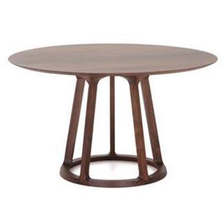 北欧黑胡桃木实木西餐桌