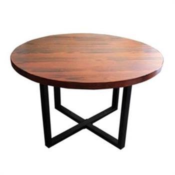 简约实木圆形做旧西餐桌