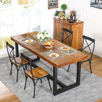 美式复古家具铁艺实木仿古西餐桌-厂家直销定制