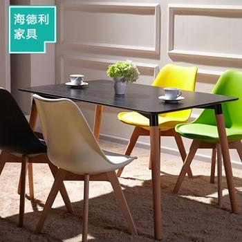 现代简约实木餐桌 方桌西餐厅桌椅简易桌子-厂家直销