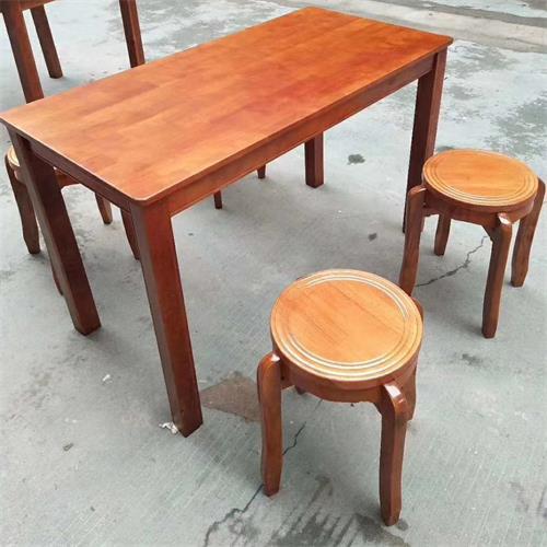 餐馆饭店酒楼时尚地方菜4人位实木餐桌