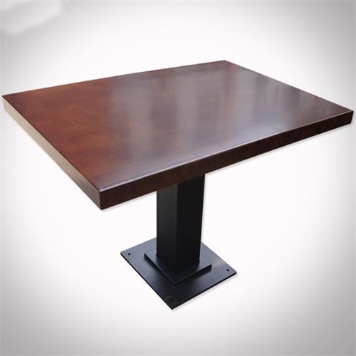 铁艺实木餐桌_中餐厅酒楼会所时尚方桌休闲桌椅