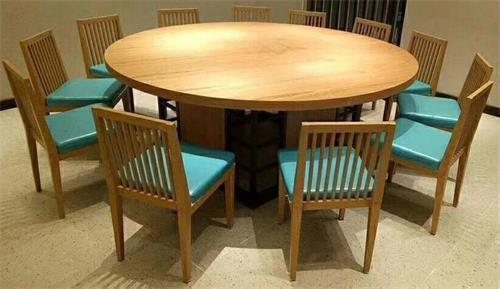 酒楼湘菜馆川菜餐厅包厢12人位实木桌椅