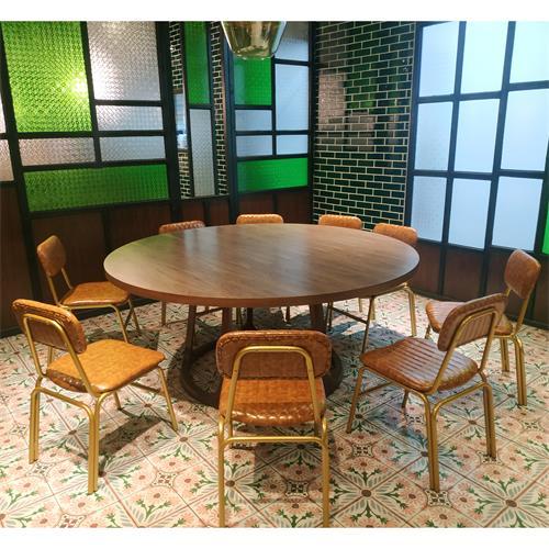 中餐店包房包厢实木桌椅_实木饭店餐桌椅