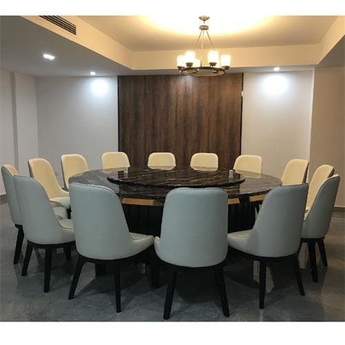 上海本帮菜包间16人大圆桌_西北菜时尚轻奢大理石餐桌