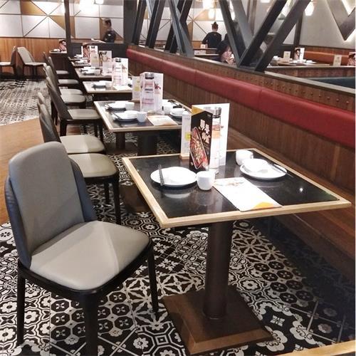 中式正餐时尚休闲桌椅_酸菜鱼餐厅桌椅