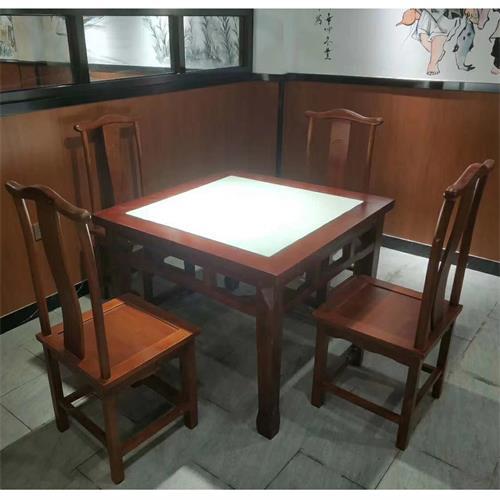 中餐厅中式餐桌椅_湘菜川菜馆实木复古桌椅定制--厂家直销