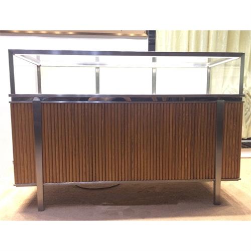 时尚不锈钢玻璃展柜_不锈钢高端珠宝柜