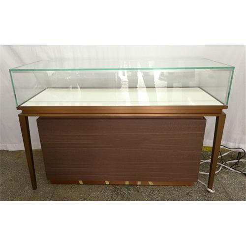 不锈钢玻璃展柜_时尚钛金不锈钢珠宝柜