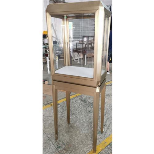 珠宝店玻璃展示高柜_珠宝首饰不锈钢展示立柜
