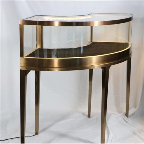 玉器翡翠珠宝首饰不锈钢烤漆玻璃异形展柜