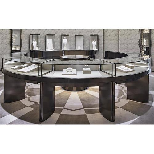 高档珠宝店不锈钢玻璃钻石柜创意陈列