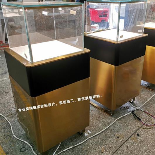 珠宝玉器翡翠店高端不锈钢玻璃展示柜