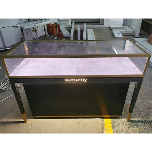 海瑞温斯顿不锈钢玻璃珠宝展示柜