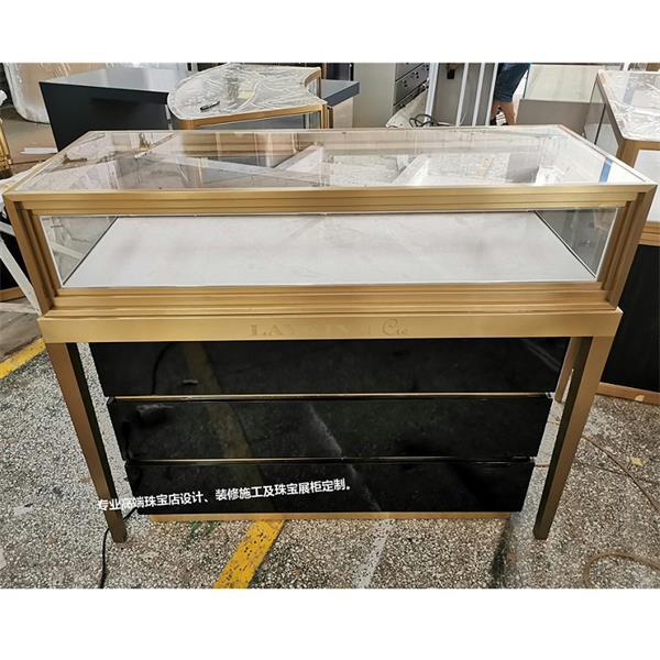 高端饰品展示柜_不锈钢玻璃饰品柜台展示柜