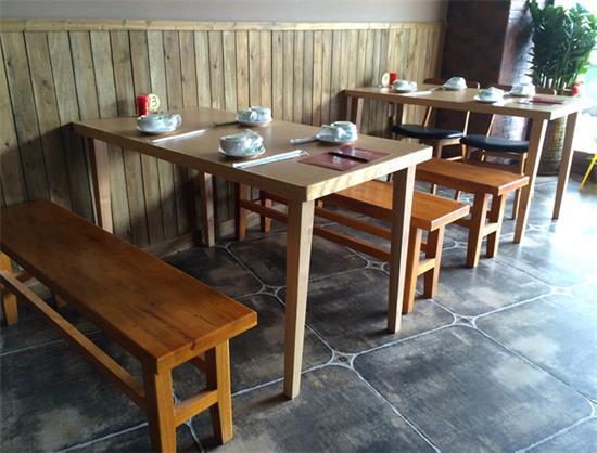 酒楼中式仿古实木yabo娱乐 _主题特色湘菜餐厅桌椅