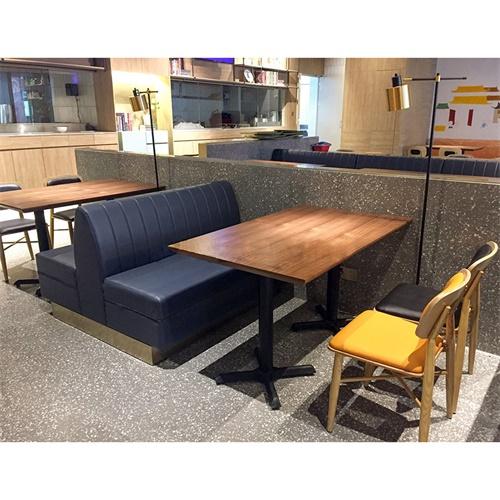 客家菜馆实木餐桌椅_中式餐厅酸菜鱼桌椅