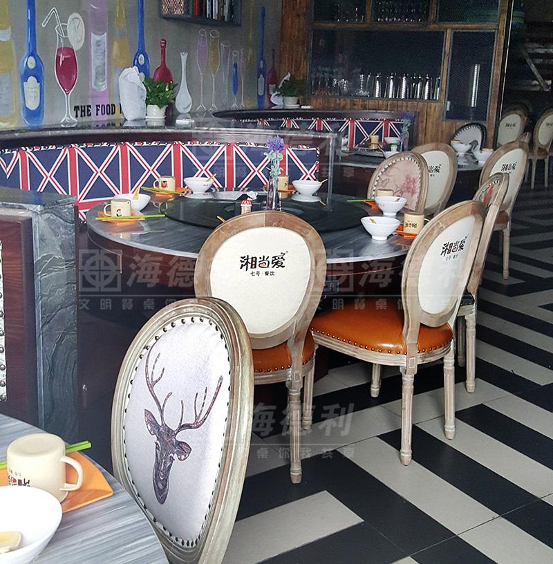 企业家具富华大理石主题餐桌椅-台面餐厅家具实木餐厅主题北京有限公司图片