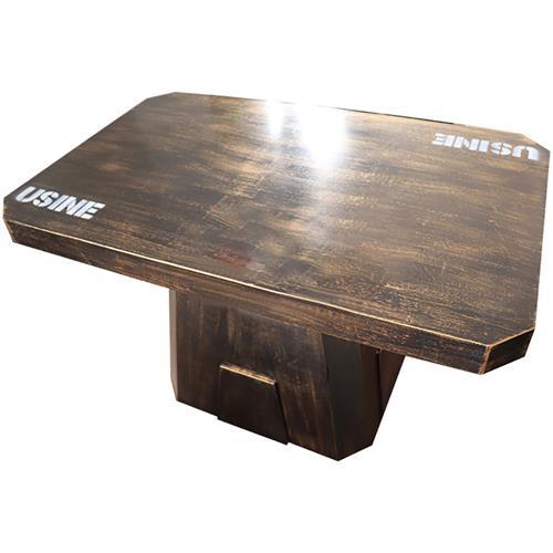 古铜色餐桌 工业铁艺风餐桌 主题风餐厅餐桌